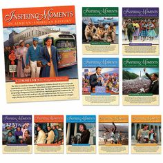 Inspiring Moments In African-American History Laminated Poster Set  Item # KL-873F