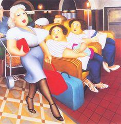 Women Running- signed limited edition silkscreen print by comic artist Beryl Cook from CCA Galleries. Jeremy Deller, Beryl Cook, Plus Size Art, Fabian Perez, Fat Art, English Artists, British Artists, Alex Colville, Audrey Kawasaki