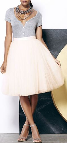 All in Good Cheer Peach Tulle Skirt