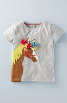 Mini Boden 'Best in Show' Applique Tee (Toddler Girls, Little Girls & Big Girls) Toddler Girl Style, Toddler Girl Outfits, Kids Outfits, Toddler Girls, Kids Fashion Blog, Toddler Fashion, Mini Boden, Make Your Own Clothes, Nordstrom