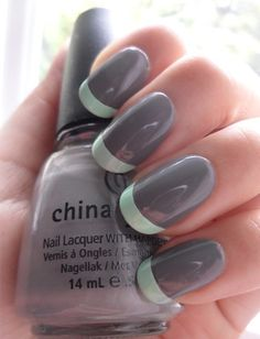 Mint french tips