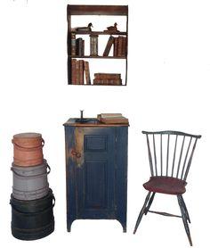 A213 Early 19h century North Hampton County PA. Storage Cupboard,