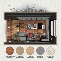 Interior Architecture Drawing, Interior Design Sketches, Cafe Interior Design, Architecture Graphics, Architecture Portfolio, Art And Architecture, Small Room Design, Photoshop Rendering, Digital Art Tutorial