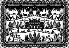 Letter from the Northwest: Schweizer scherenschnitte Paper Cutting, Cut Paper, Paper Art, Paper Crafts, German Folk, Paper Cut Design, Decoration Christmas, Paper Weaving, Kirigami