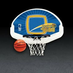 Junior Slam Door-Mount Basketball System by Spalding. $19.23. Includes 9-inch rim and 4-inch inflatable basketball. Requires no tools for installation. Indoor basketball system for kids with 19-inch backboard featuring NBA logo. Quickly mounts to the back of a door; rim fold for easy closure. Amazon.com                Keep your kids active and teach them hoops skills at a young age with the Spalding Junior Slam indoor basketball system (model 56095), which mounts to the back of a...