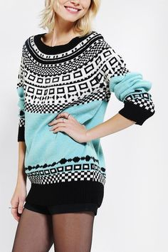 Comfy fair isle sweater from Cooperative. #urbanoutfitters