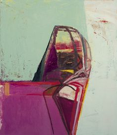 Amy Sillman, Untitled (object on table), 2007; oil on canvas; 45 x 39 inches