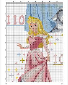 Height Chart, Princesas Disney, Cross Stitching, Cross Stitch Patterns, Diy And Crafts, Disney Princess, Disney Characters, Cross Stitch Designs, Gauges