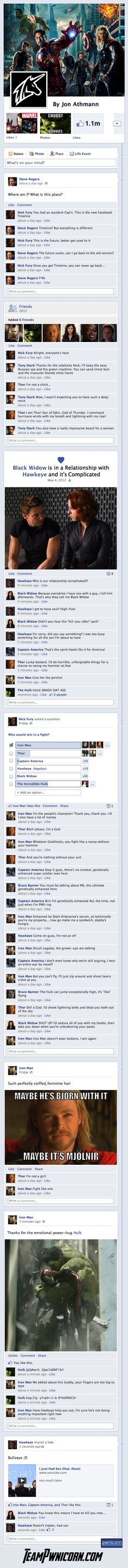 What If... The Avengers Assembled On Facebook?