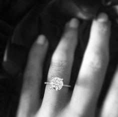Dream ring!!!!!   2ct. Diamond ring with a thin band.