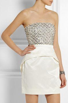 SASS & BIDE Around The Corner embellished satin-jacquard mini dress  NET-A-PORTER