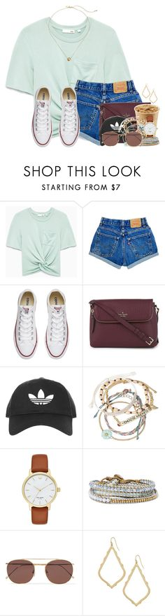 """""""Already somewhat tired of school"""" by annaewakefield ❤ liked on Polyvore featuring Converse, Kate Spade, Topshop, Decree, Chan Luu, Illesteva and Kendra Scott"""