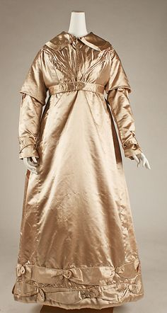 Dress (Pelisse)    Date:      ca. 1825  Culture:      British  Medium:      silk, linen
