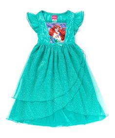 Turquoise Little Mermaid Fantasy Nightgown - Toddler by Disney Princess #zulily #zulilyfinds