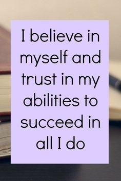 Empowering affirmations for business success - I believe in myself and trust in my ability to succeed in a I do. Click through for more business affirmations Affirmations Positives, Morning Affirmations, Money Affirmations, Quotes Deep That Make You Think, I Believe In Me, Quotes Dream, Life Quotes Love, Quotes Quotes, Wisdom Quotes