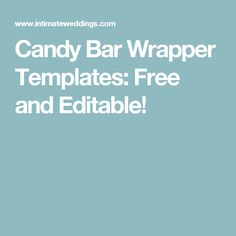 These candy bar wrapper templates allow you to add your own name and wedding date. Perfect for wedding favors - or any special occasion. Candy Bar Wrapper Template, Candy Bar Wrappers, Candy Messages, I Do Bbq, Personalized Candy, Hershey Bar, Candy Bouquet, Wedding Candy, Occasion Cakes