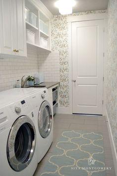 Laundry Room.  Laundry Room Runner. #LaundryRoom #Runner Sita Montgomery Interiors.