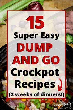Crockpot Dump Recipes, Crock Pot Freezer, Crockpot Dishes, Crock Pot Slow Cooker, Crock Pot Cooking, Cooker Recipes, Crock Pot Dump Meals, Quick Crockpot Meals, Easy Cooking