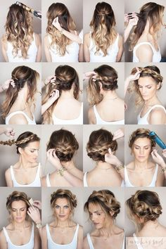In case you are undecided about your coiffure, you're in the proper place. Recent Coiffure .com Get the Recent Newest, and Stylish Suggestions About Halo Braid Braided Hair Tutorial Please don't hesitate to Braided Crown Hairstyles, Braided Hairstyles Tutorials, Hairstyles With Bangs, Pretty Hairstyles, Easy Hairstyles, Updo Hairstyle, Bun Tutorials, Crown Braid Tutorials, Greasy Hair Hairstyles