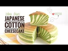 Japanese cotton cheesecake is a perfect combination of sponge cake and cheesecake in both taste and texture. Gluten Free Cheesecake, Cheesecake Recipes, Japanese Cotton Cheesecake, Comidas Fitness, Cotton Cake, Matcha Cake, Japanese Matcha, Japanese Food, Matcha Smoothie