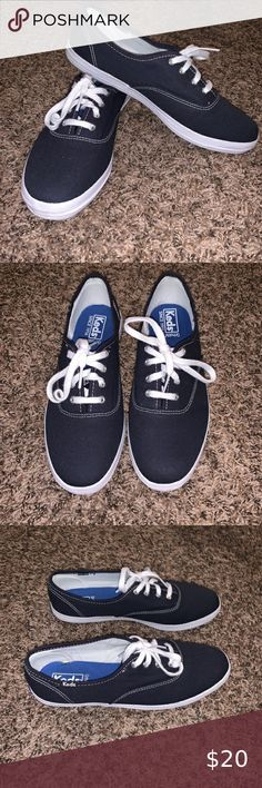 Details about EUC Adidas blue+white canvas tie athleticskatertennis shoes youthwomens? 7.5
