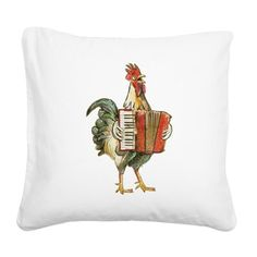 Accordion playing chicken pillow! Order now to have it under the tree! SALE $24.99