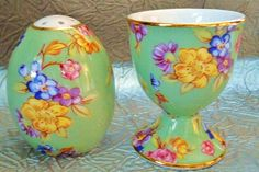 Vintage English Chintz China Egg Cup & by harmonycollectibles, $20.00
