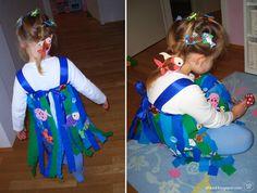 Noch keine Idee fürs Karnevalskostüm eures Kindes? Dieses Kostüm habe ich vor 3 Jahren für meine Tochter gebastelt und es war ein super Erfolg im Kindergarten!Falls jemand es nachmachen möchte, habe ich für euch hier unten eine grafischeErklärung vorbereitet.Die Fische sind aus Moosgummi und Glitzerpapier. Die Streifen sind aus Krepppapier aber besser Stoff, z. B.,...