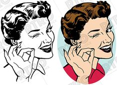 An attractive smiling woman winking and making the okay gesture vintage retro clipart clip art Clip Art Vintage, Retro Vintage, Royalty Free Images, Royalty Free Stock Photos, Shadow Face, Art Clipart, Old Ads, Female Art, Videos