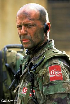 Melanie-  Coca Cola - Bruce Willis looking bad ass and supporting his favorite beverage.