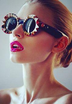 e2d48d90ec0 Mercura enameled sundial sunglasses Pink Sunglasses