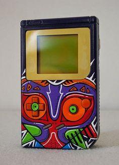 Awesome Custom Painted Majora's Mask Game Boy