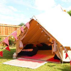 Bell tent sleepover
