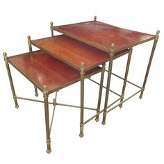 Set of 3 Maison Jansen Nesting Tables  | From a unique collection of antique and modern nesting tables and stacking tables at http://www.1stdibs.com/furniture/tables/nesting-tables-stacking-tables/