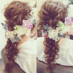 【結婚式の髪型】お花いっぱいの花嫁ヘアまとめ | marry[マリー]