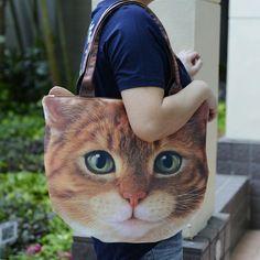 猫バッグ。ものすごいインパクト。◆犬好き猫好きに話題!リアルなアニマルバッグ - MONOCO http://blog.monoco.jp/post/93631368719