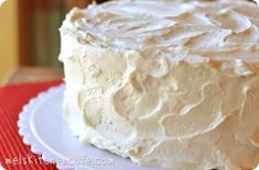 The BEST Frosting! I have made it and it is DEVINE!!! Not too sweet but so fluffy. Store in refrig. Great on red cake.