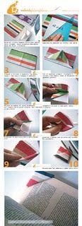 Bookmarks origami tutorial