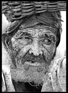 Old Man - Sketching by Shonit Sahu in My Scrapbook at touchtalent