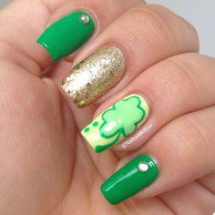 nailsaddictionn St. Patrick's Day #nail #nails #nailart
