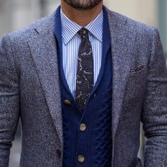 Pure merino wool: The new navy textured shawl cardigan. #SUITSUPPLY