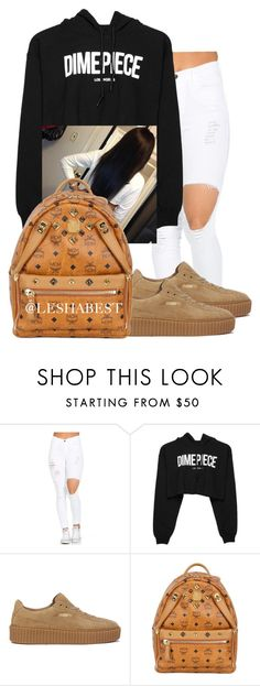 """Untitled #101"" by leshabest ❤ liked on Polyvore featuring Dimepiece, Puma and MCM"