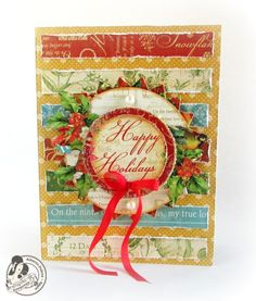 Beautiful Twelve Days of Christmas card by Alberto! Love this #graphic45 #cards