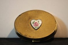 Vintage Guilloche Heart Brass Pill Box. Starting at $10 on Tophatter.com!http://tophatter.com/auctions/18738/manage 10pm est 4/18 LIVE AUCTION!