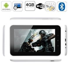 Android 4.0 MID Tablet PC 7 inch Capacitive Touchscreen with Mali-400 processor speed 1.5G MHZ, 4GB