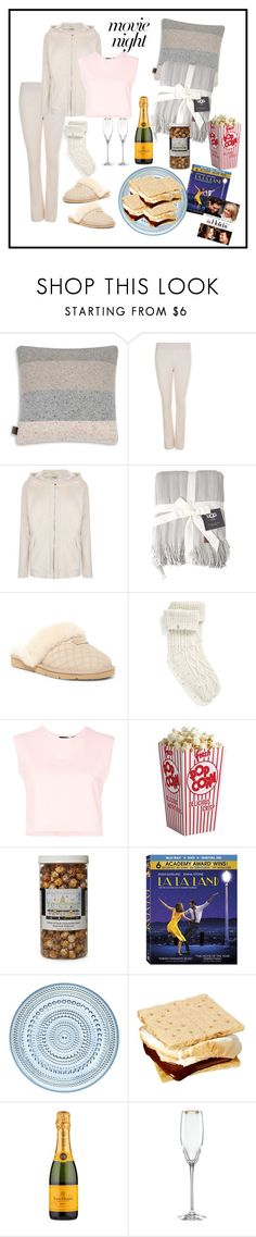"""""""Chick Flick Tonight"""" by onesweetthing ❤ liked on Polyvore featuring UGG, Puma, The Hampton Popcorn Company, iittala, Kate Spade, MyStyle, movieNight, ugg and veuvecliqout"""