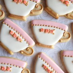 awesome Elegant White Teacup Decorated Cookies - One Dozen Decorated Sugar Cookies Mother's Day Cookies, Fancy Cookies, Iced Cookies, Cute Cookies, Royal Icing Cookies, Birthday Cookies, Cupcake Cookies, Sugar Cookies, Graduation Cookies