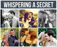 Whispering a secret Couple ideas