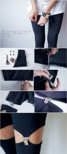 DIY suspender tights! No this will fail esp on larger legs pls NO
