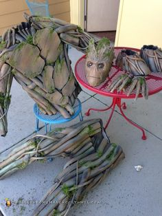 Coolest Ever 100% Homemade Groot Costume! - 2